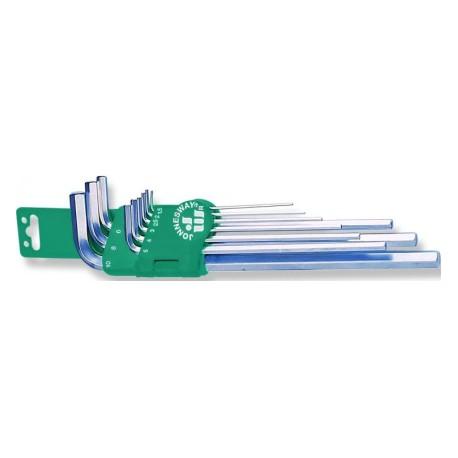 Set Inbus ključeva dugih sa ravnim krajem 9 kom H03SM109S