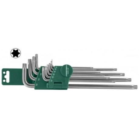 Set Torx dvostranih dugih ključeva 9kom H12S110S