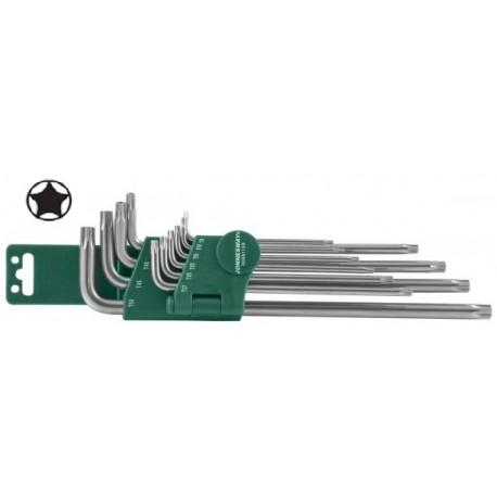Set Torx petugaonih dvostranih dugih ključeva 9kom H16109S