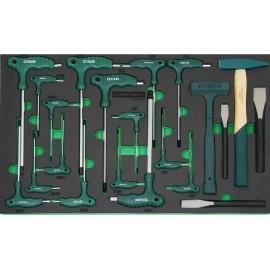 Set Imbus Torx ključeva i čekić H10121SV