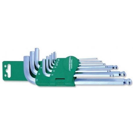 Imbus ključevi kratkih 9 kom zaobljeni H05SM109S